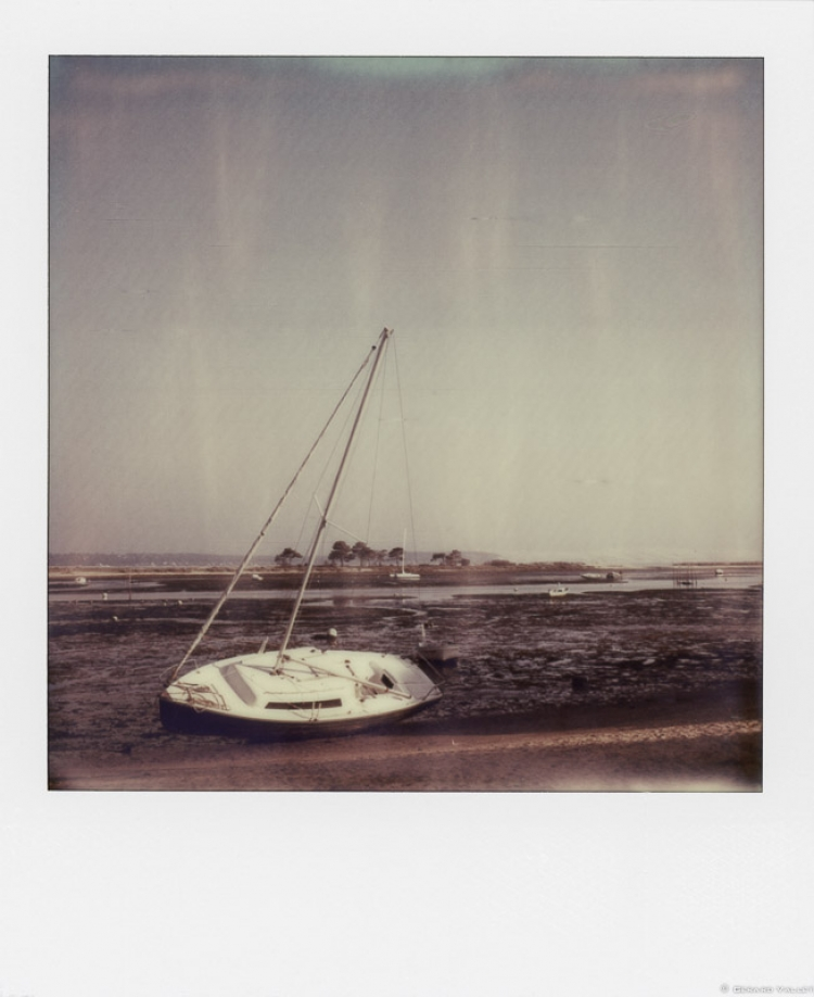 Marée basse, Cap Ferret, Polaroïd SLR670 + Impossible color 600