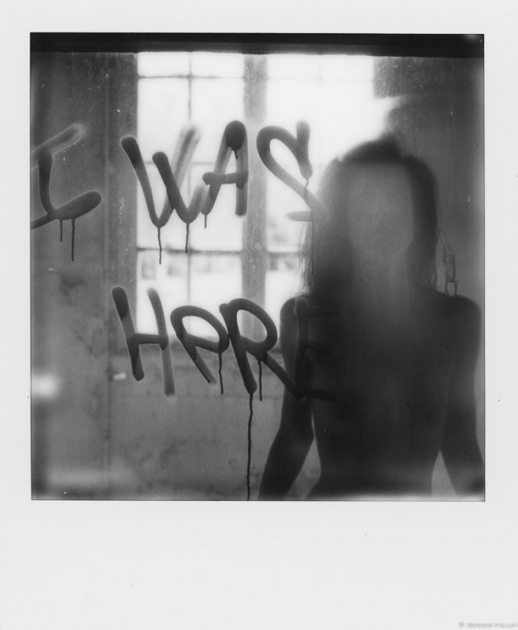I WAS HERE ! Juliette, Polaroid SLR670 + Impossible 600 B&W