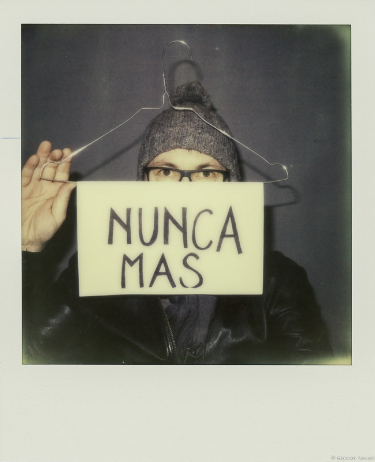 NUNCA MAS, Contre l'interdiction de l'IVG, Polaroid SLR670 + Impossible color 600