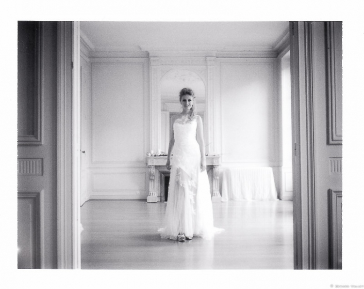 Robe de mariée, Collection Mary Viloteau, Polaroïd 350 + FP3000B